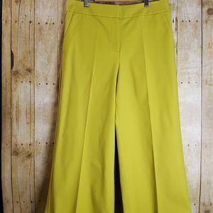 Loft   Crop Pants   Size 12   Yellow